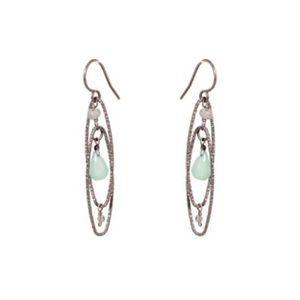 Chalcedony Earrings on Oxidized Sterling Silver